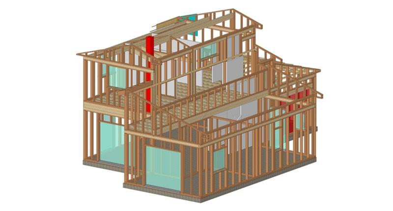 Charpente-maison-3D
